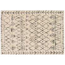 Emory Heather Gray Black Rug - 8 x 11