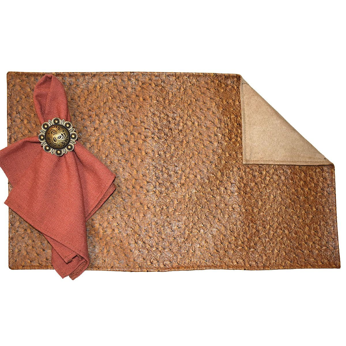 Emu Wheat & Suave Camel Reversible Placemats - Set of 4