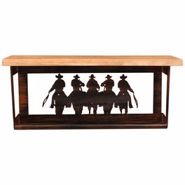 Equestrian Rider Towel Bar With Shelf