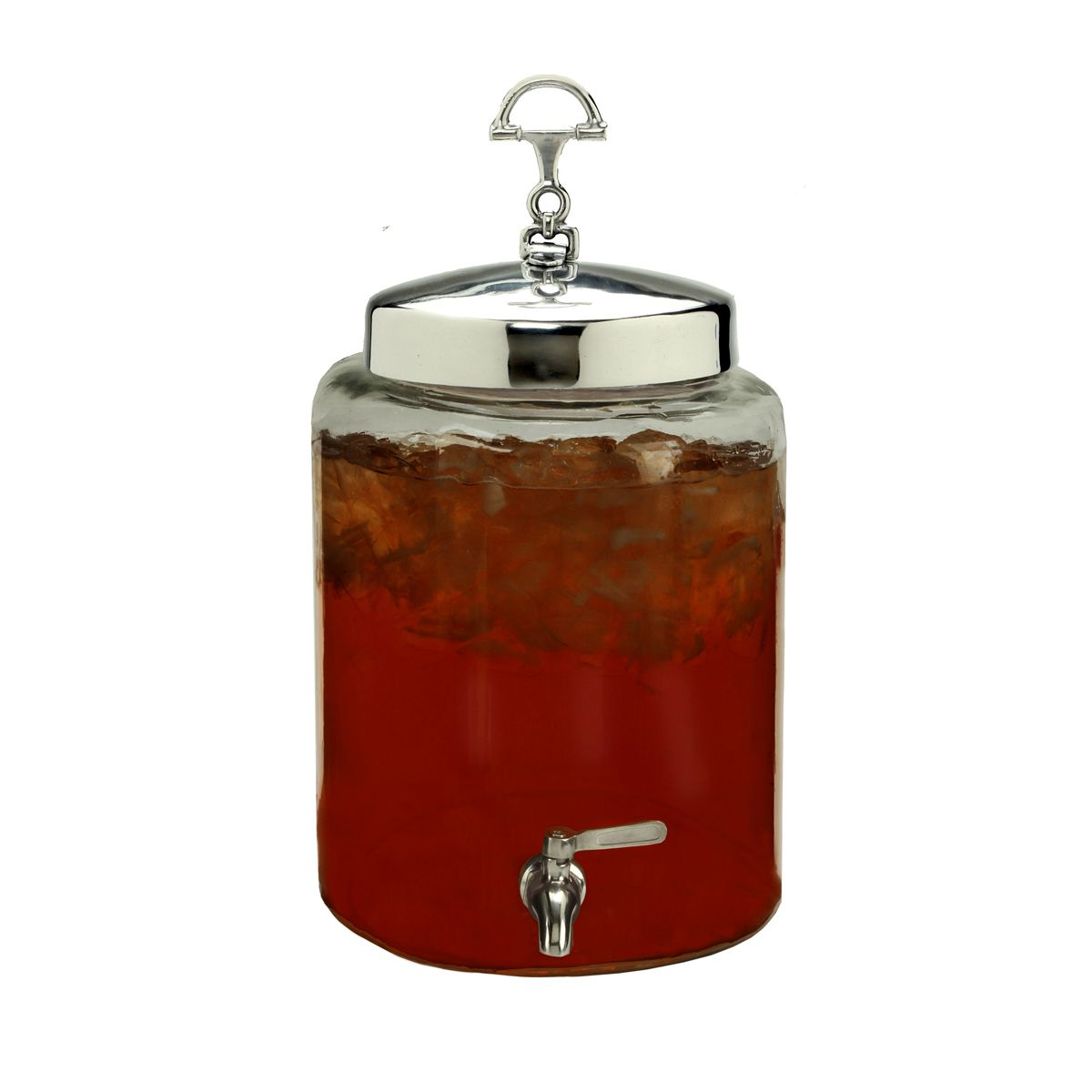 Equestrian Round Beverage Server