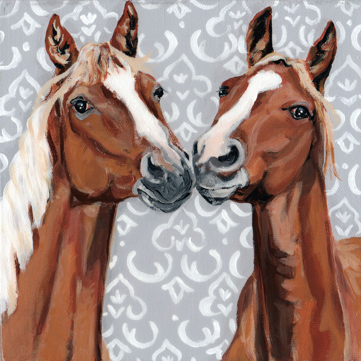 Equine Affection Canvas Art