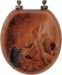 Evening Campfire Toilet Seat