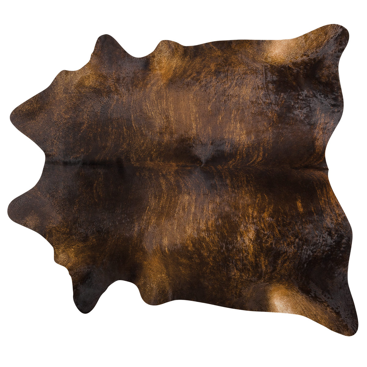 Exotic Dark Brindle Brazilian Cowhide Rug