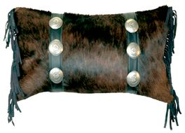 Exotic Hair-On-Hide with Black Leather Pillow