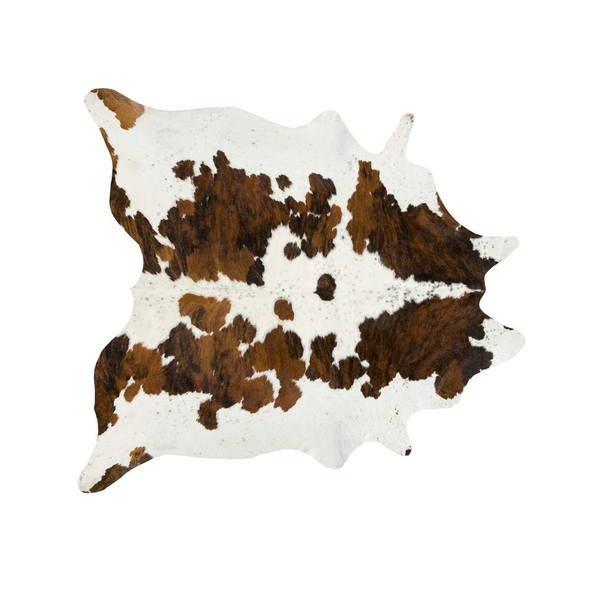Exotic Tri Color Special Cowhide Rug - Medium