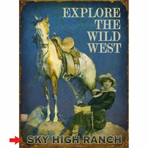 Explore the Wild West Personalized Sign - 17 x 23