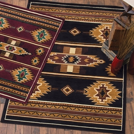 Eye of the Storm Black Rug Collection