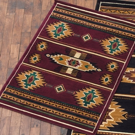 Eye of the Storm Burgundy Rug Collection