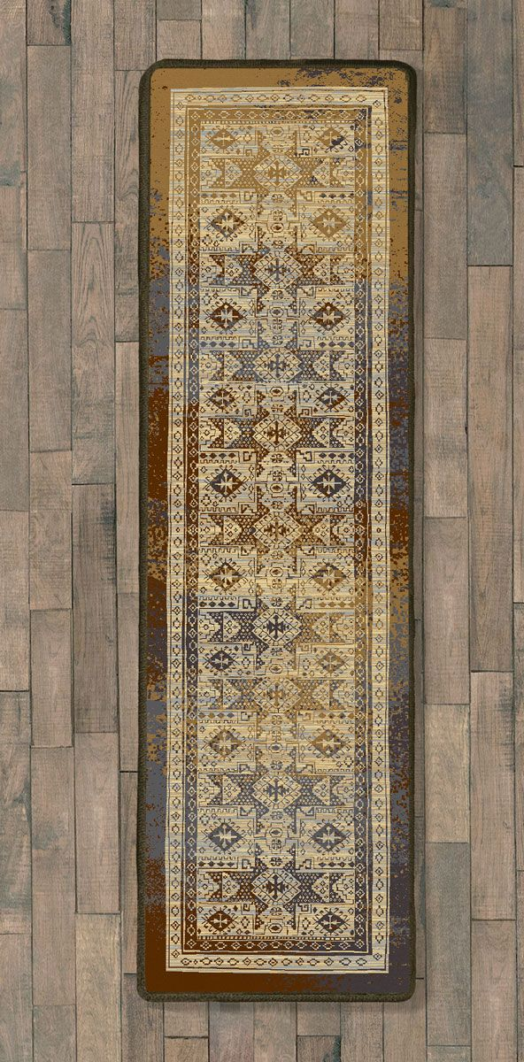 Faded Tribal Beauty Rug - 2 x 8