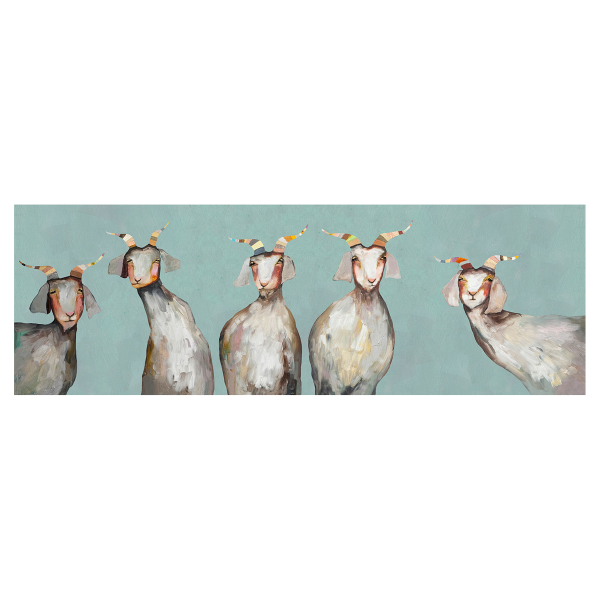 Family of Goats Canvas Art