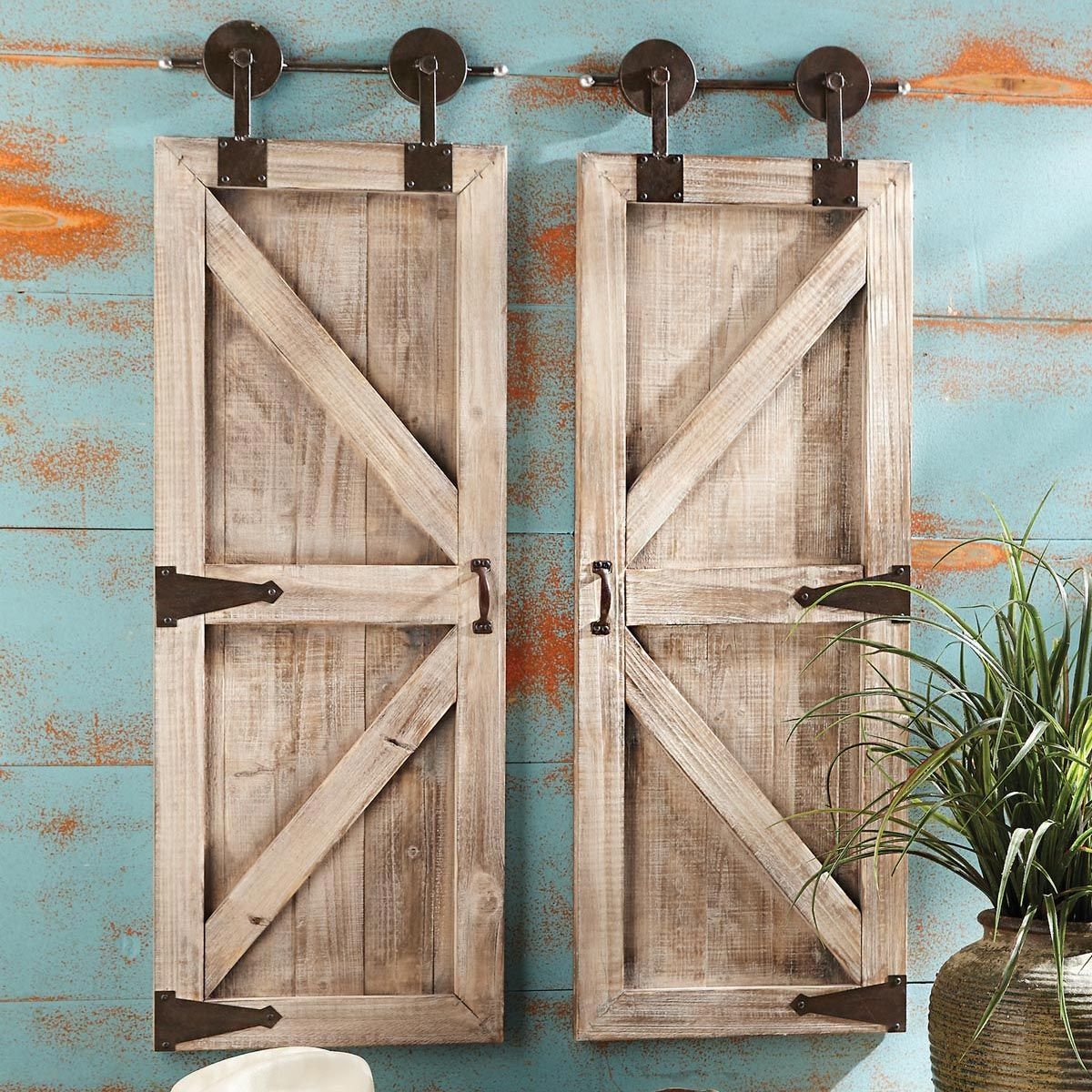 Farmhouse Barnwood Wall Hangings (2pcs)