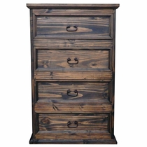 Farmhouse Pine 4 Drawer Chest - Natural Dark