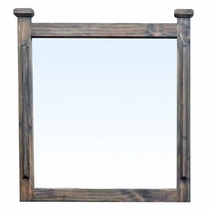 Farmhouse Pine Mirror - Natural Dark