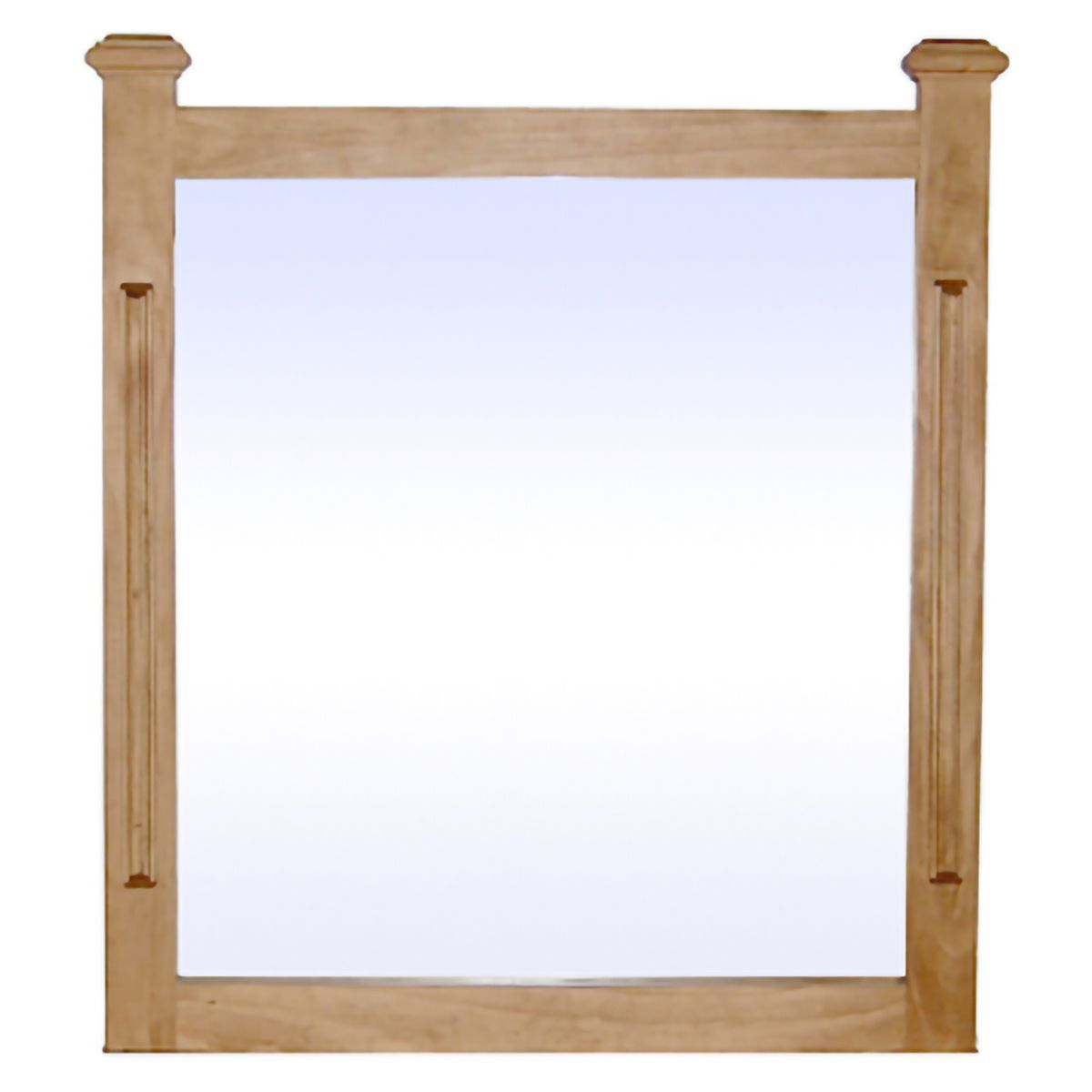 Farmhouse Pine Mirror - Natural Light