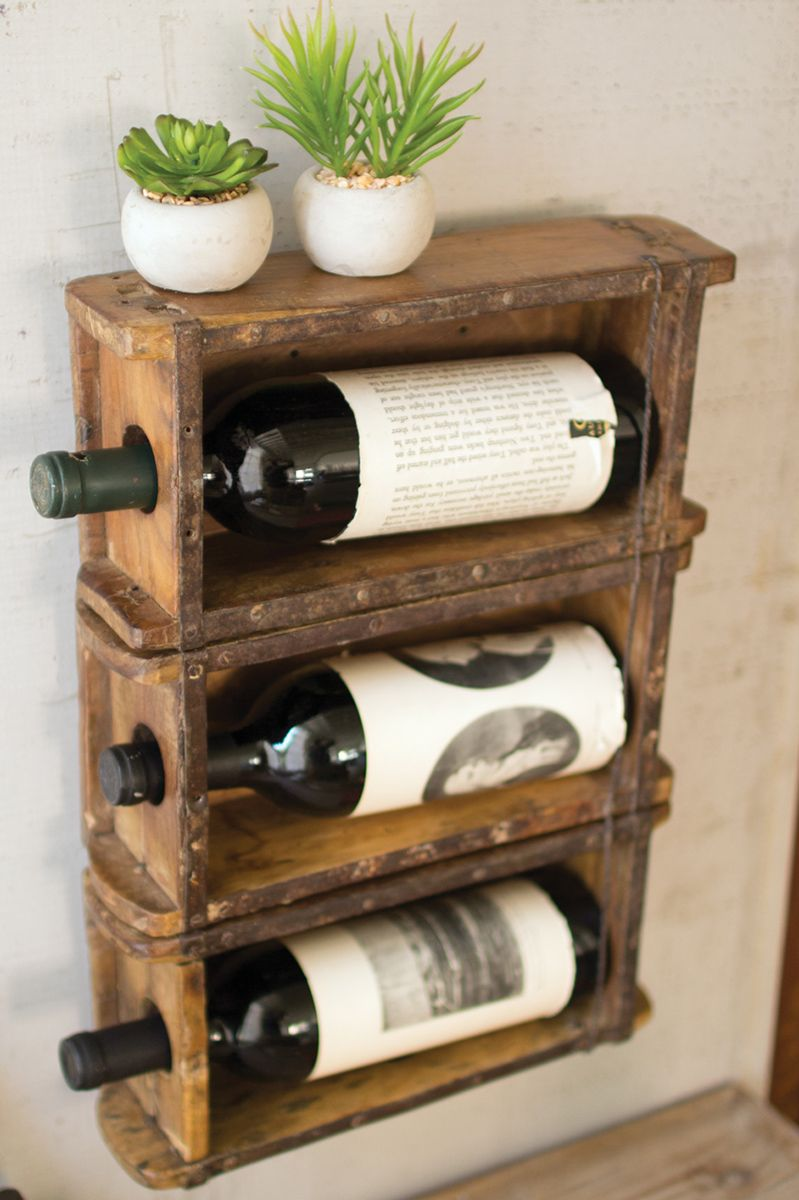 Faux Brick Wine Bottle Holder