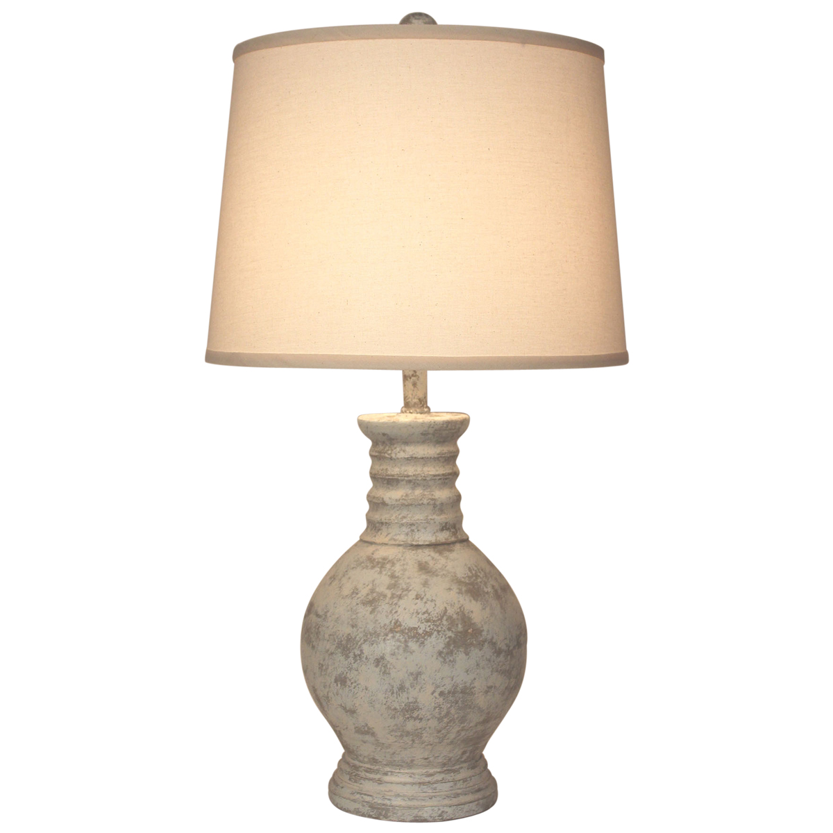Faux Stone Pot Table Lamp