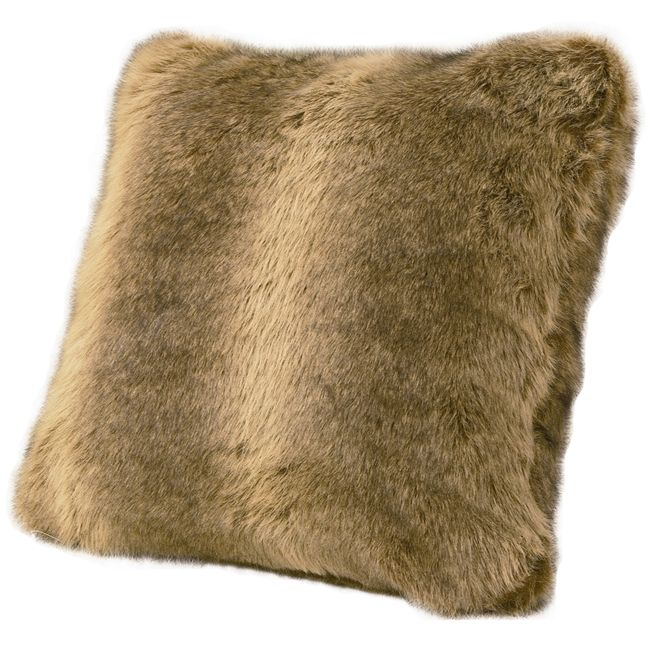 Faux Wolf Fur Pillow