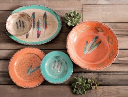 Feather Design Melamine Dinnerware