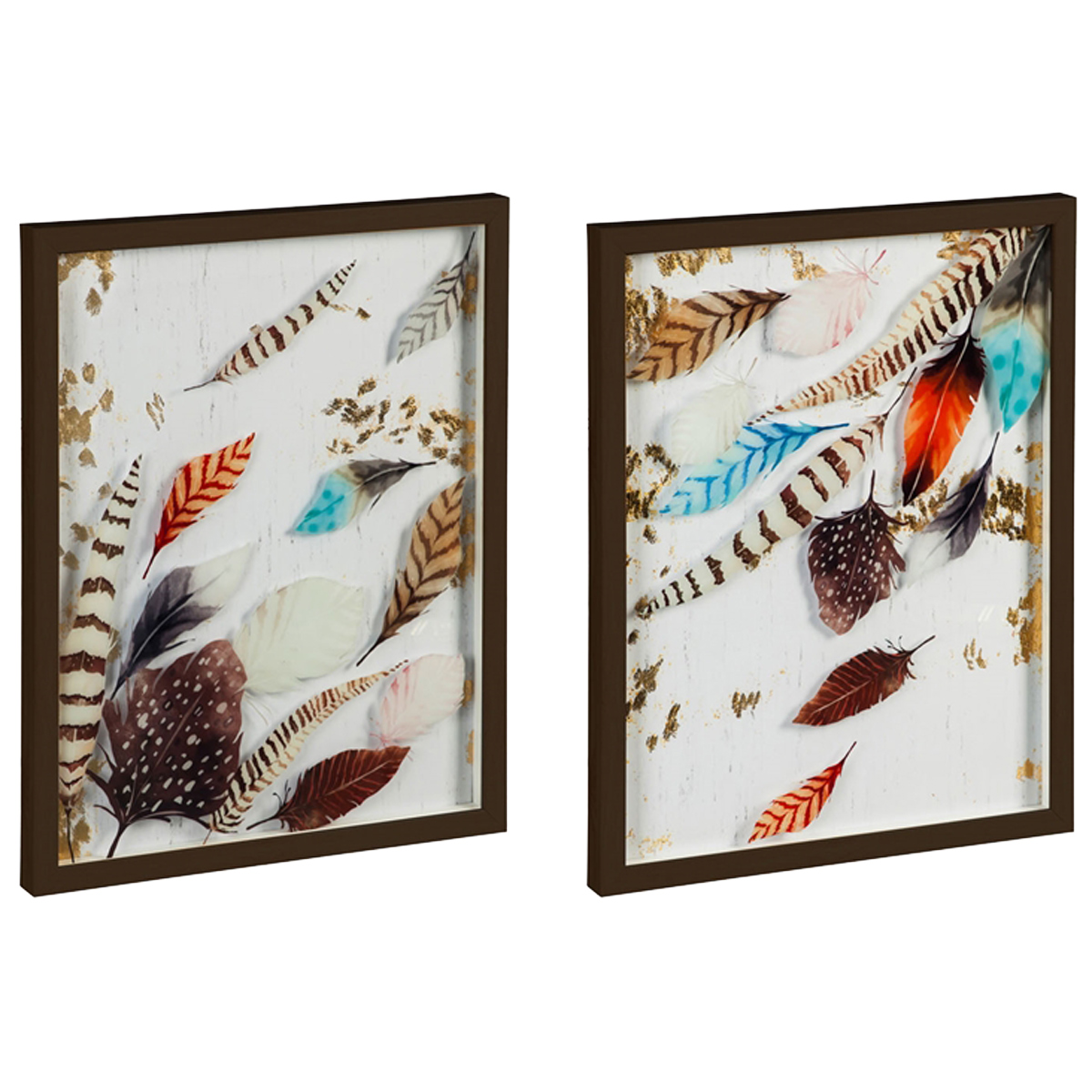 Feather Flurry Wall Art - Set of 2