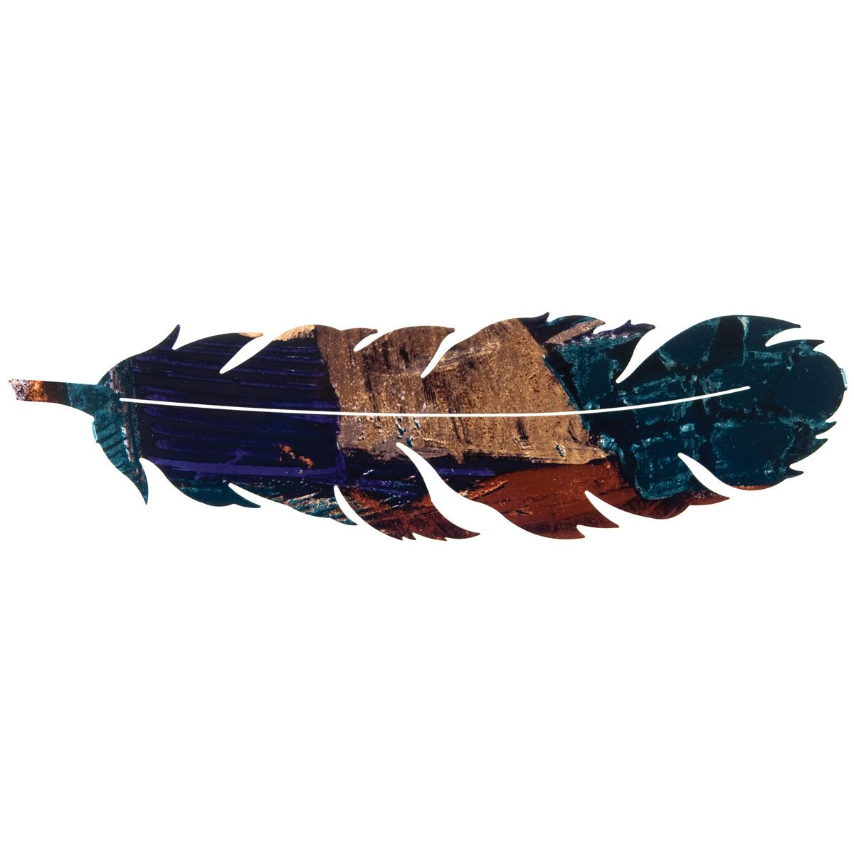 Feather Leaf Metal Wall Art - Fusion Finish