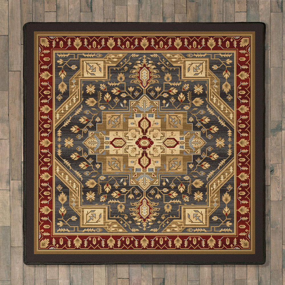 Feather Plains Lodge Rug - 8 Ft. Square