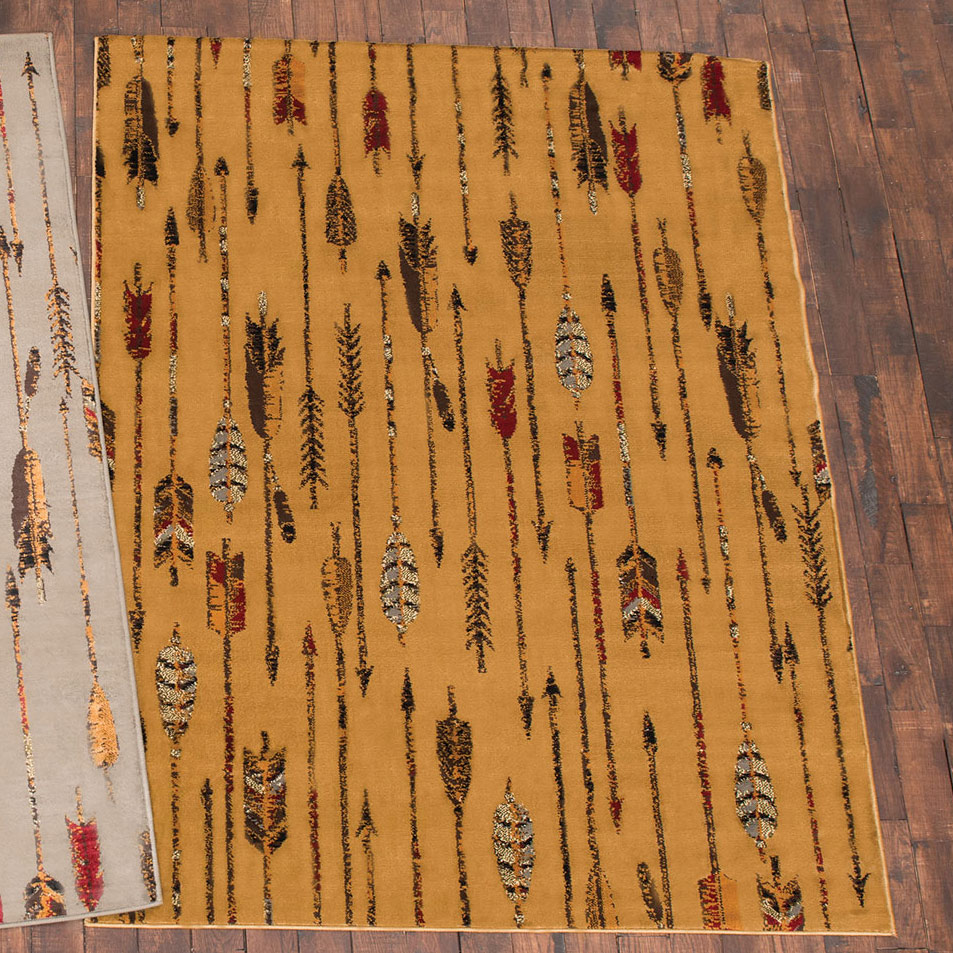 Feathered Arrows Beige Rug - 2 x 7