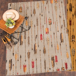 Feathered Arrows Gray Rug Collection