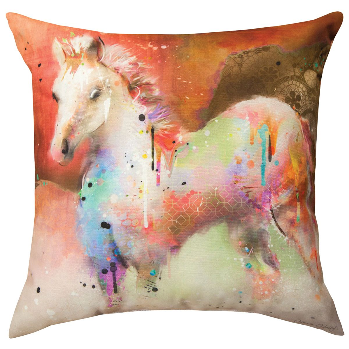Fields of Color Horse Pillow