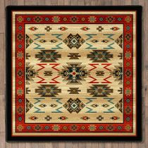 Fiery Gorge Canyon Rug - 8 Ft. Square