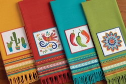Fiesta Embroidered Dishtowels