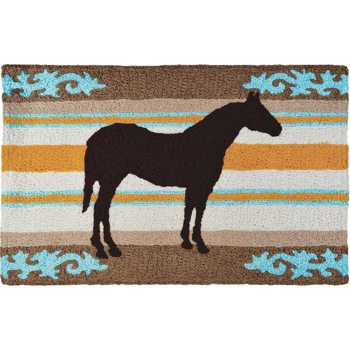 Filigree Horse Indoor/Outdoor Rug