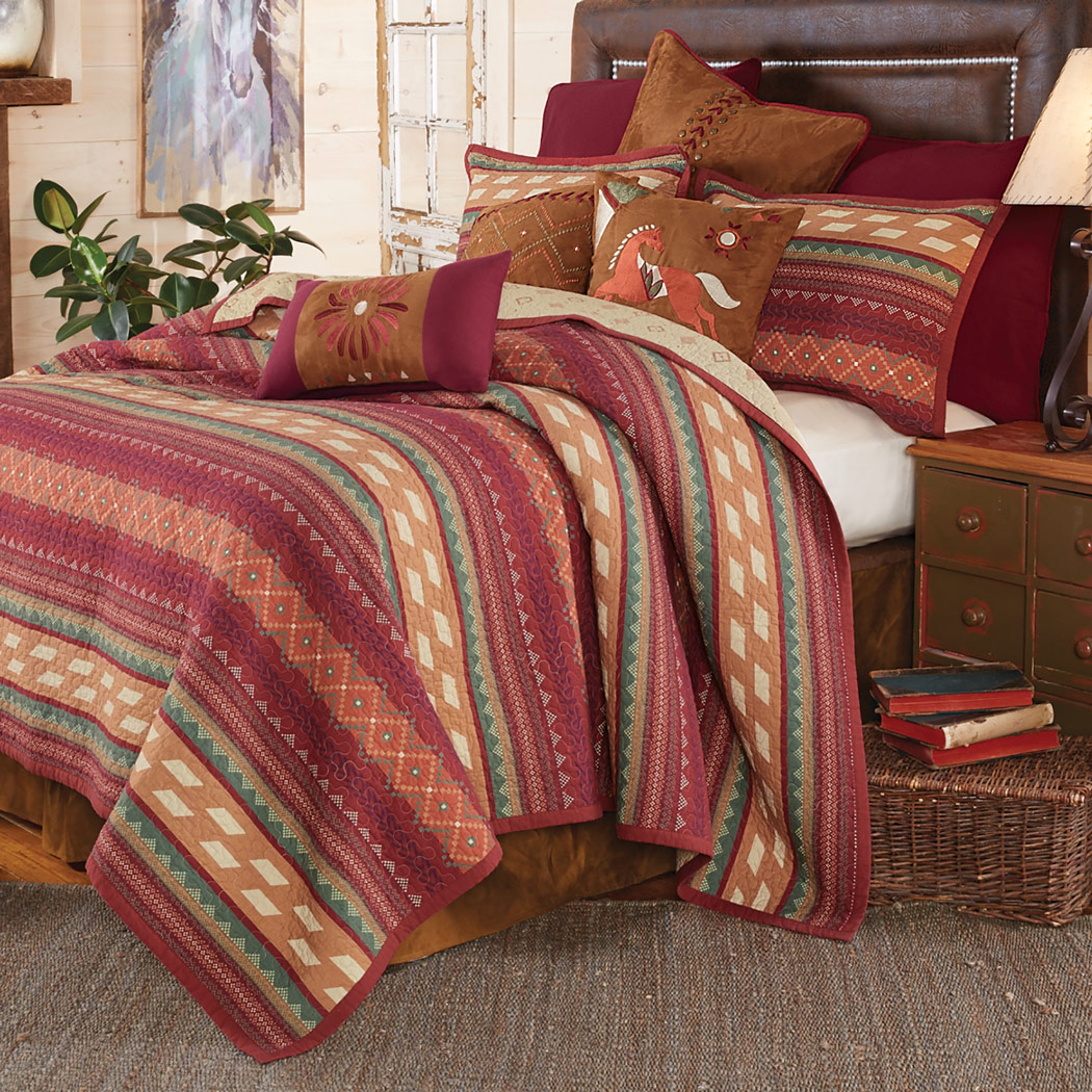 Fire Dance Reversible Quilt Bed Set - King