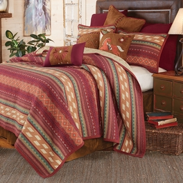 Fire Dance Reversible Quilt Bedding Collection