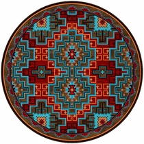Fire Dancers Rug - 8 Ft. Round