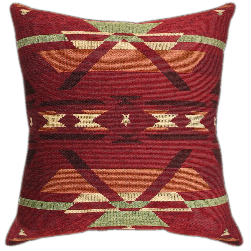 Flame Tapestry Chenille Pillow - 23 x 23