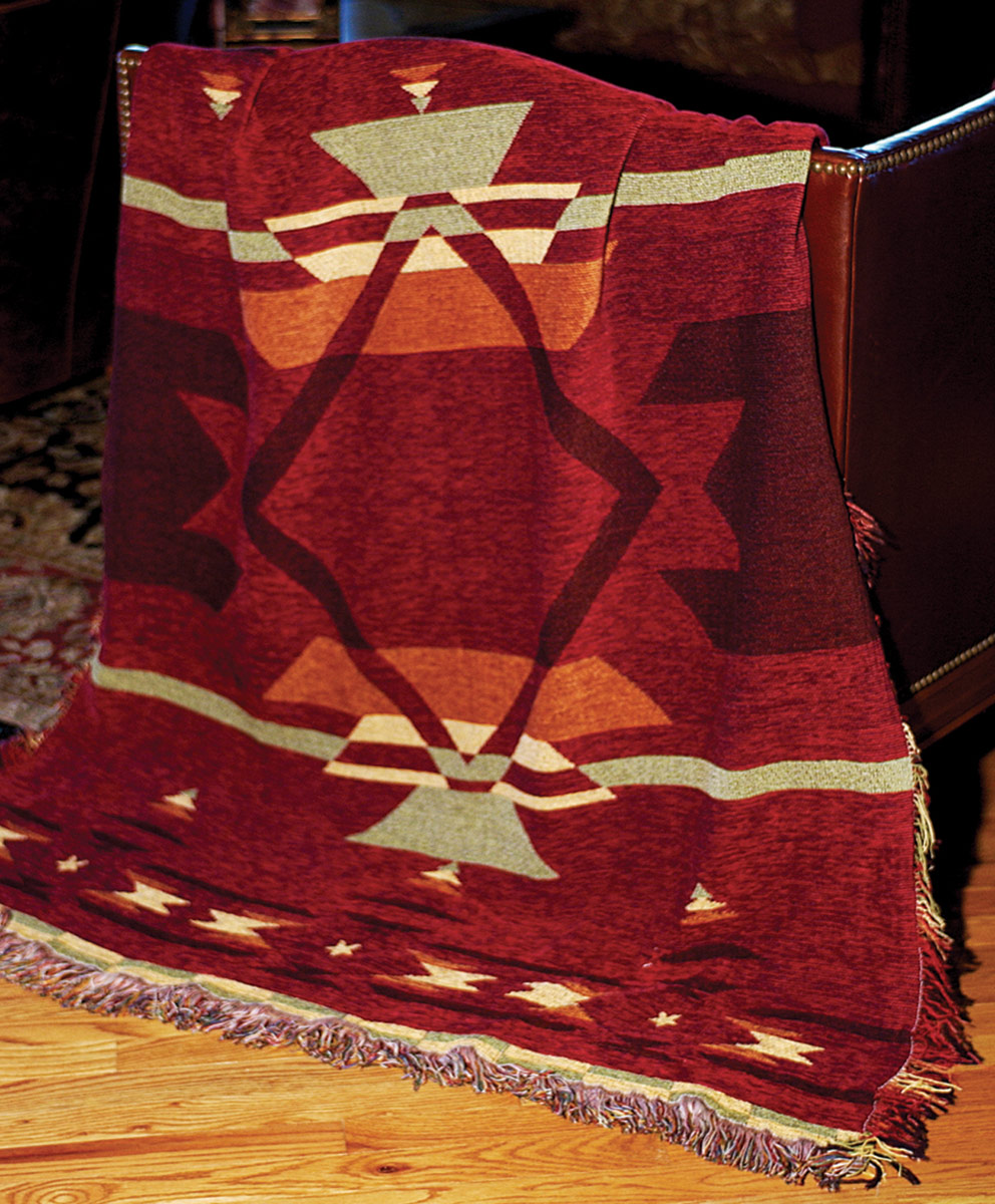Flame Tapestry Chenille Throw