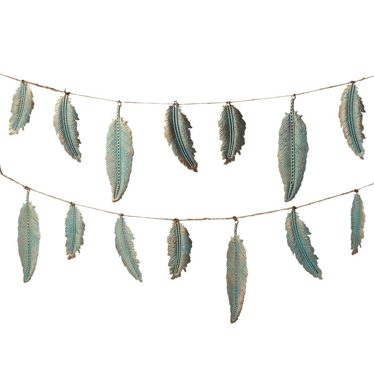 Floating Feathers Copper Finish Garland