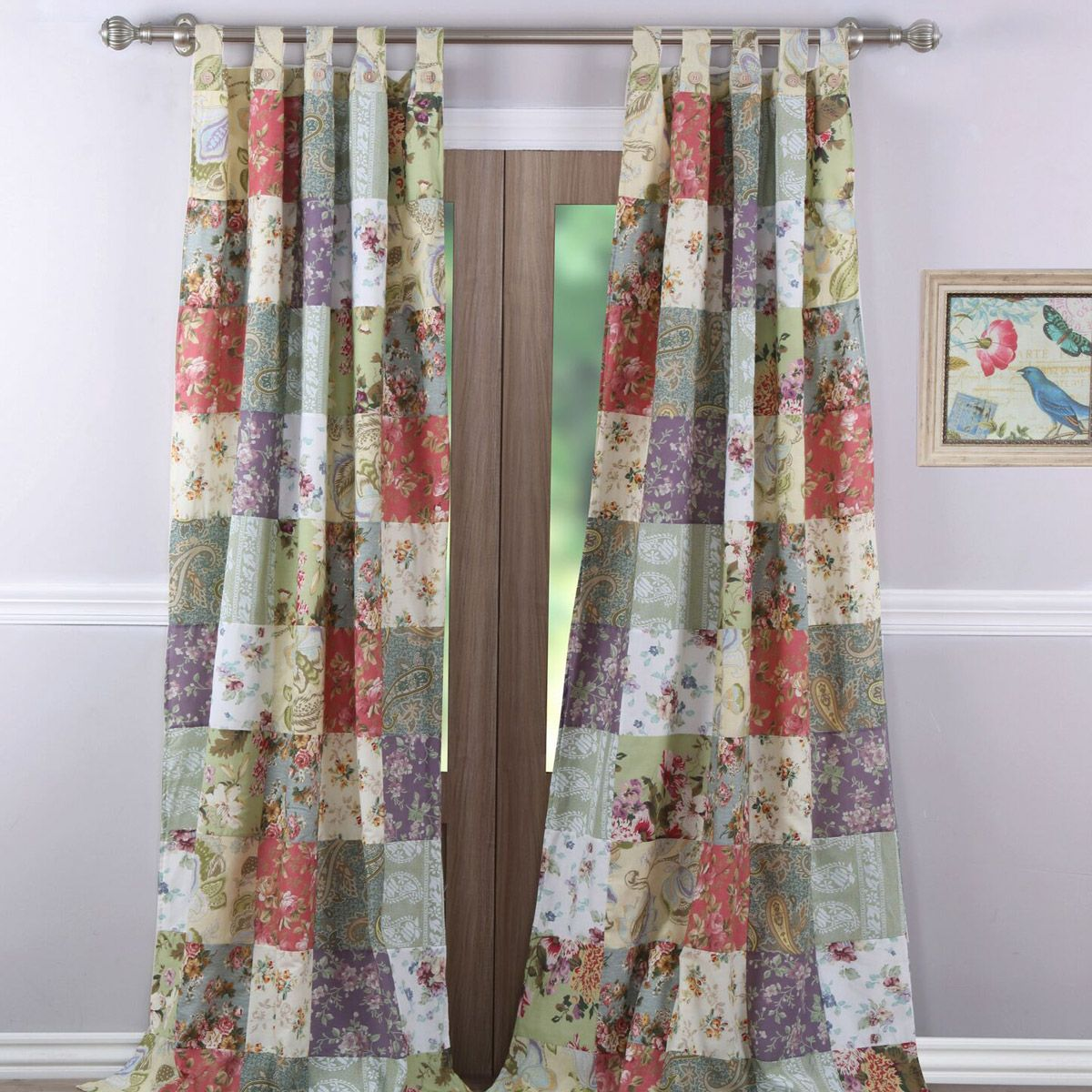 Floral Meadows Window Panel Pair