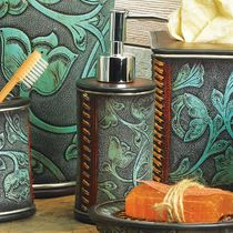 Floral Tooled Turquoise Lotion Pump