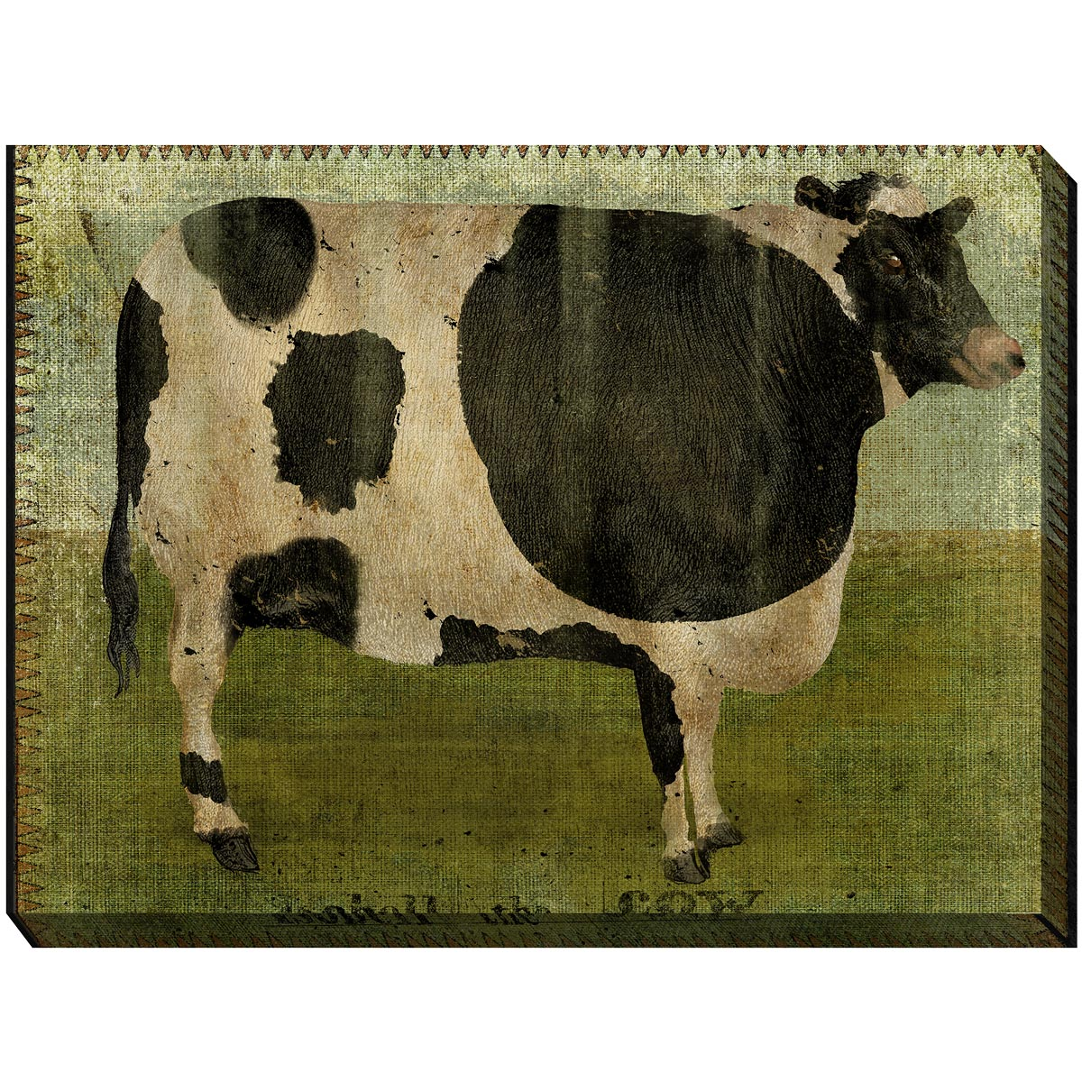 Flossie the Cow Canvas Art