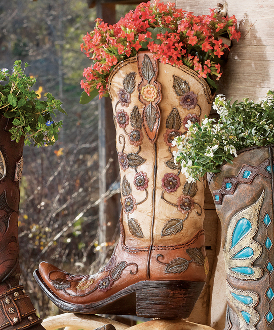 Flower Cowboy Boot Vase - OUT OF STOCK UNTIL 1/15/2021