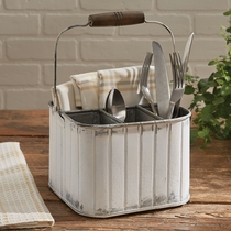 Fluted Metal Caddy