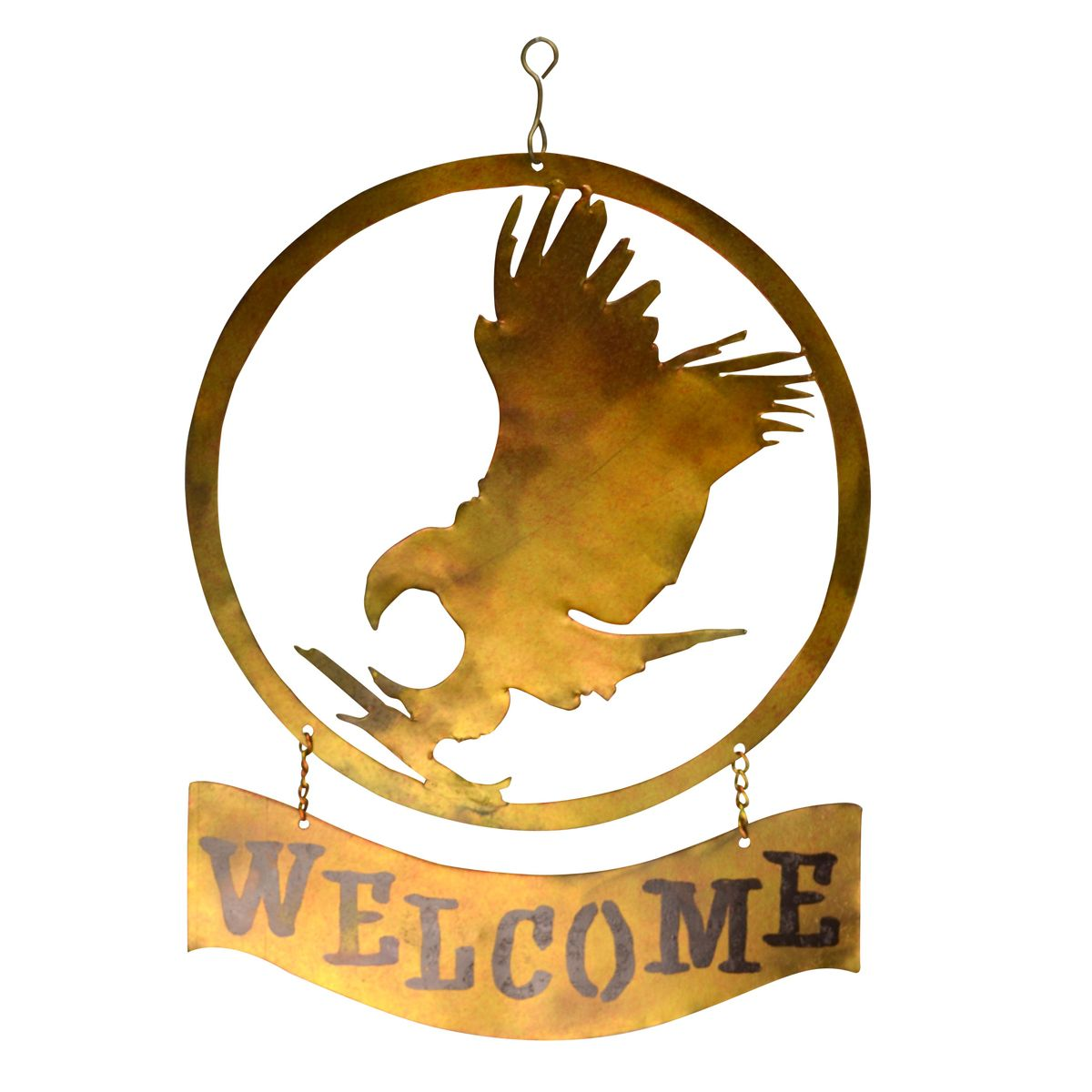 Flying Eagle Metal Welcome Sign