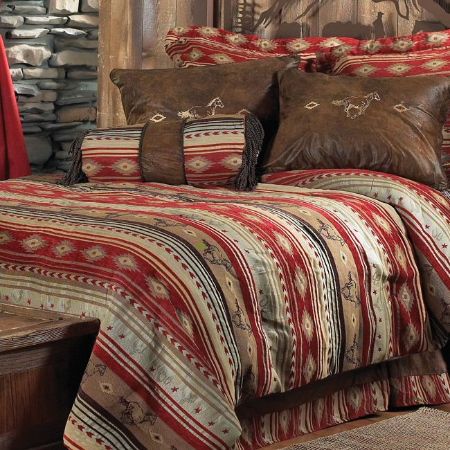 Western Bedding: King Size Flying Horse Bed Set|Lone Star Western Decor