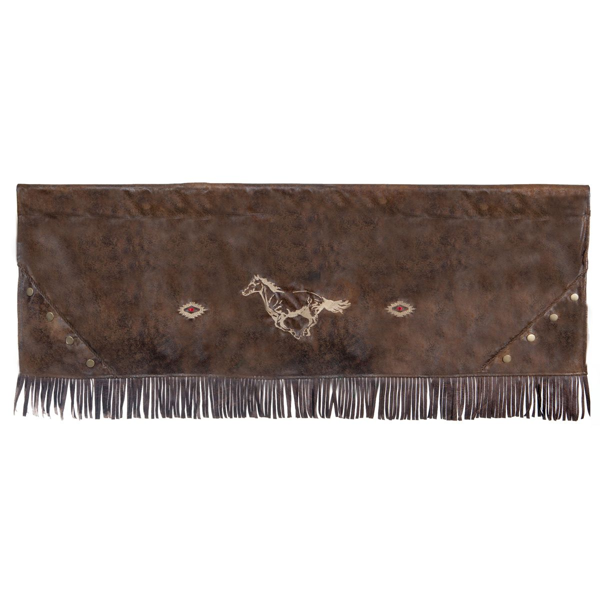 Flying Horse Faux Leather Valance - OUT OF STOCK UNTIL 5/6/2021