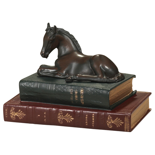 Foal and Books Sculpture