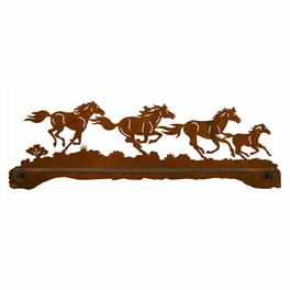 Four Horses Towel Bar - 27 Inch