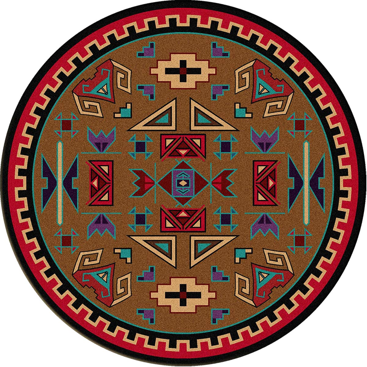 Four Rams Rug - 8 Ft. Round