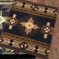 Four Winds Black Rug - 4 x 5