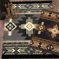 Four Winds Gray Rug - 8 x 10